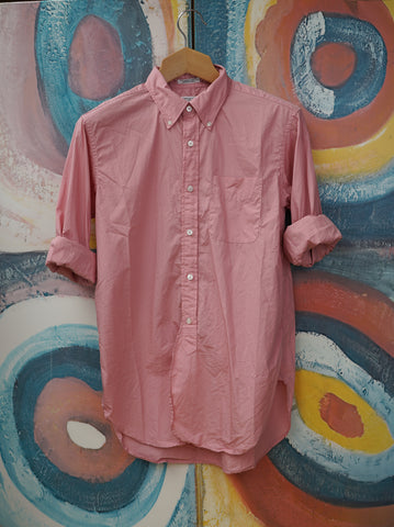 Pink 19th century Button Down Shirt in Pink Poplin