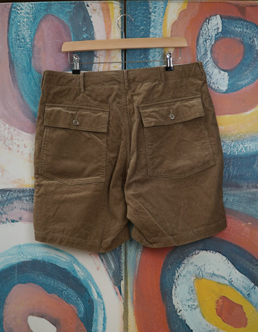 14W Corduroy Fatigue Shorts