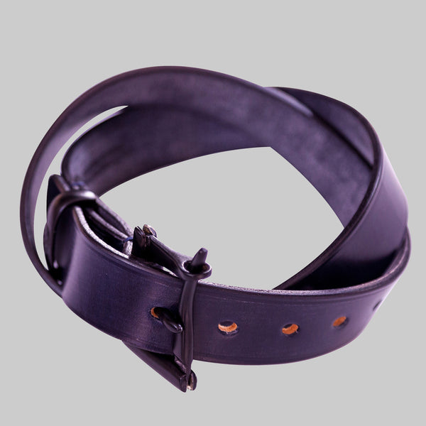 Navy Leather Black Quick Release Belt