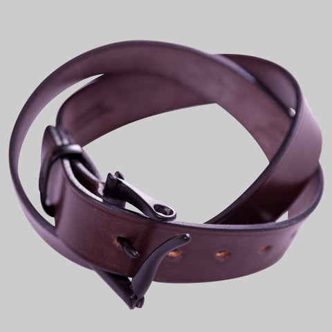 Brown Leather Black Quick Release Belt