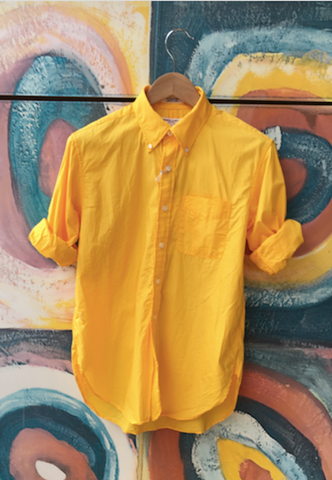Engineered Garments Yellow 19th century Button Down Shirt