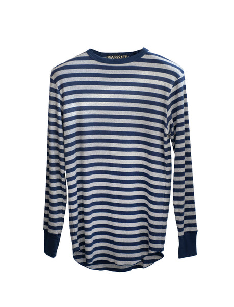 Heather Grey/Navy Stripe T-Shirt