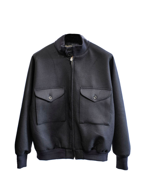 Melton Wool Bomber Jacket