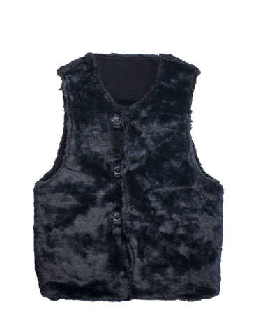 Reversible Over Vest Corduroy Black