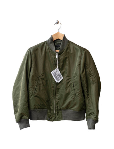 Aviator Jacket Olive Flight Sateen