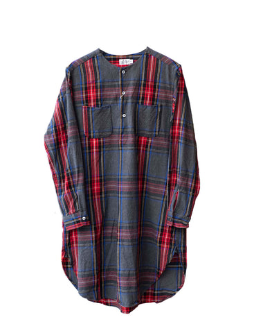 Brushed Plaid Tunic Shirt