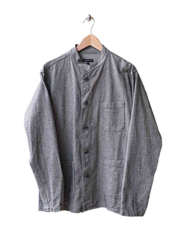 Grey Herringbone Dayton Shirt Jacket