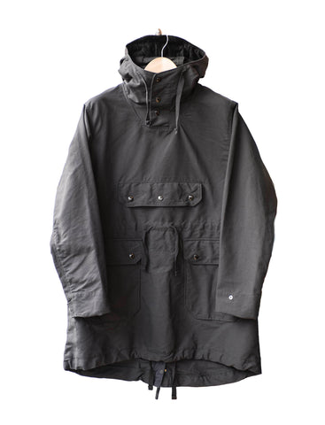 Engineered Garments Black Cotton Oversized Parka