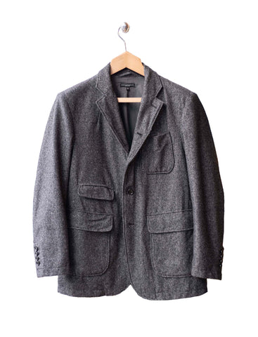 Grey Wool Homespun Landsdown Jacket