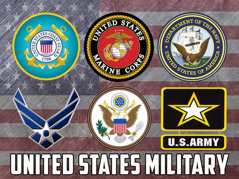 US Military Branches Poster Navy Air Force Army Coast Guard ...