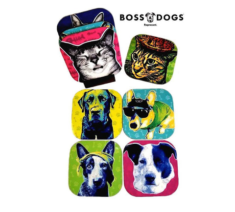 BossDogs™ Custom Coasters (Set of 4, One Image)
