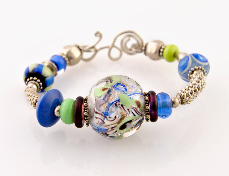 Bracelet with Lampworked Beads