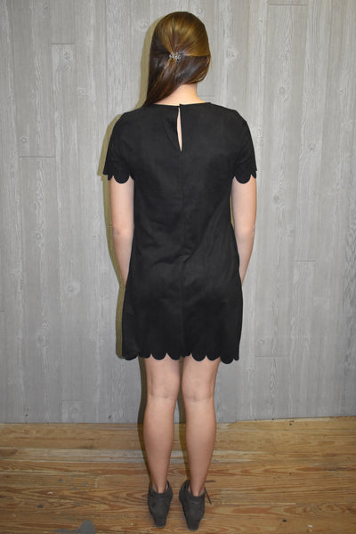 Same to You Suede Black Dress - Lyla's Clothing