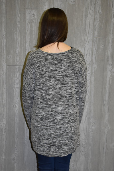 Gather Around Heathered Sweater - Lyla's Clothing