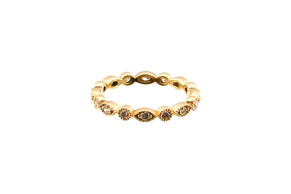 HAATHI FINE - Ornate Diamond Eternity Ring