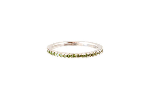 HAATHI FINE - Stack Ring with Green Diamonds