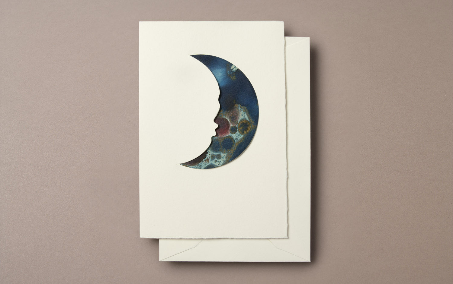 Blue Marble Moon Greeting Card