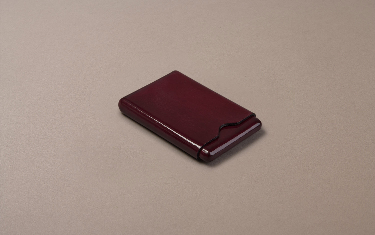 Red Choosing Keeping Leather Card Holder