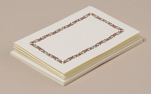 Peachy Frame Card and Envelope Correspondence Set