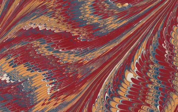 Hand Marbled Paper Sheet, Double Nonpareil