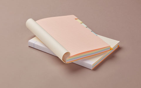Multicolour Block A5 Notebook, ruled with index tabs