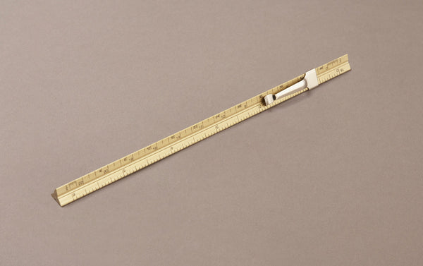 Gold 15cm/6 Inch Scale Ruler With Clip