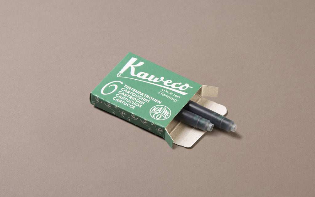 Green Kaweco 6 Pack Ink Cartridges