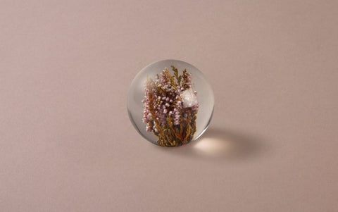 Purple Heather Paperweight