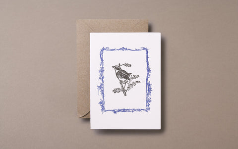 Letterpress Bird Greeting Card