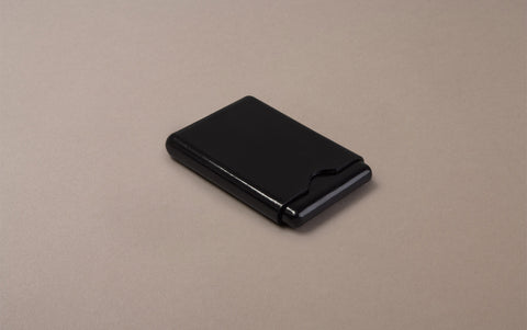 Black Choosing Keeping Leather Card Holder