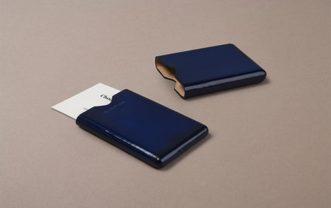 Blue Choosing Keeping Leather Card Holder