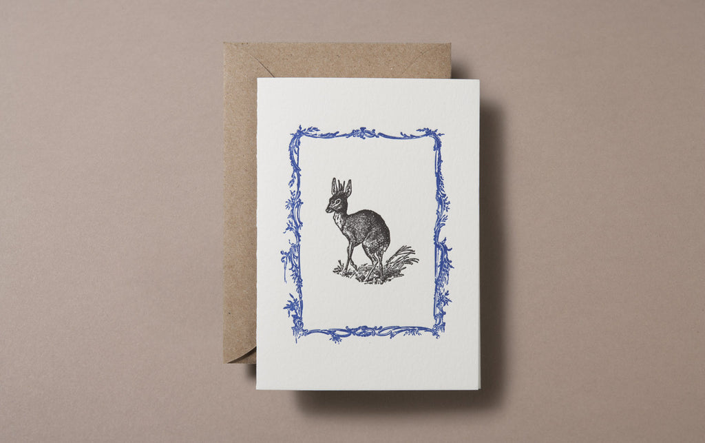 Letterpress Deer Greeting Card