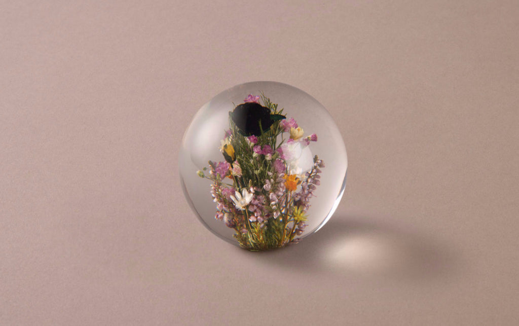 Mixed Flowers Large Paperweight