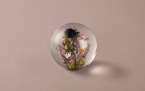 Mixed Flowers Paperweight