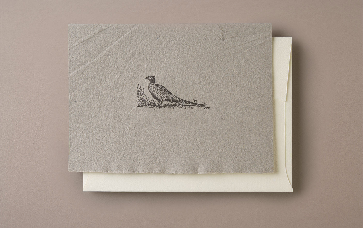 Letterpress Pheasant Greeting Card