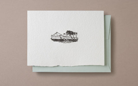 Letterpress Boat Greeting Card