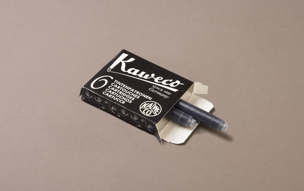Black Kaweco 6 Pack Ink Cartridges