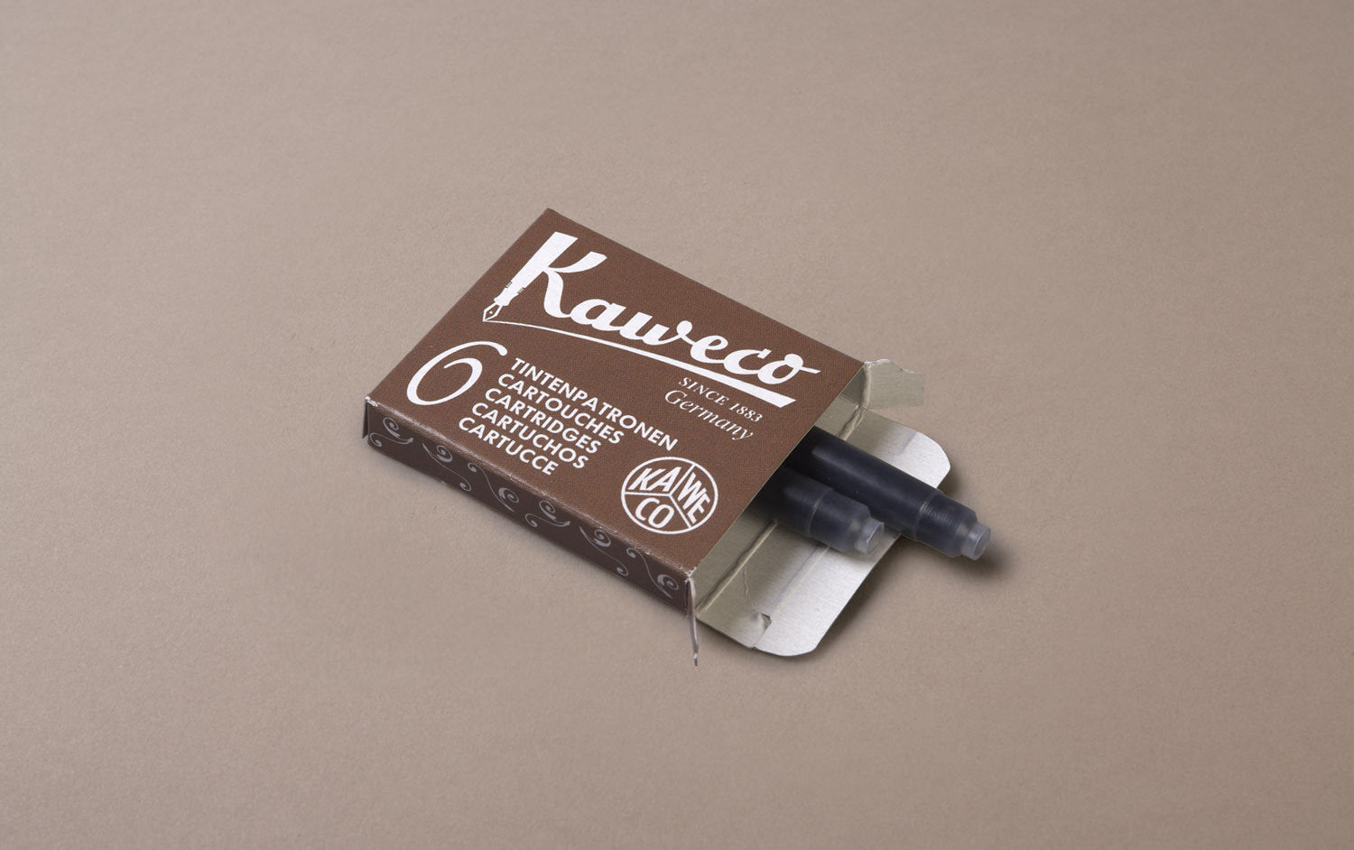 Sepia Kaweco 6 Pack Ink Cartridges