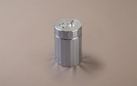 Aluminium Double Pencil Sharpener With Reservoir