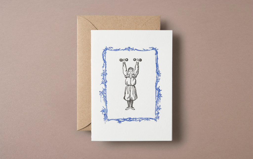Letterpress Strongwoman Greeting Card