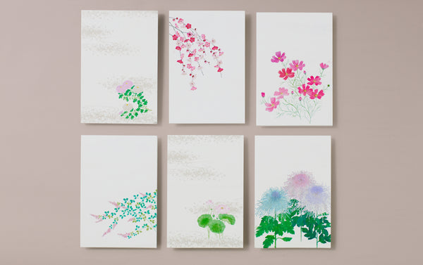 Set of 6 Japanese Botanical Postcards, No 3