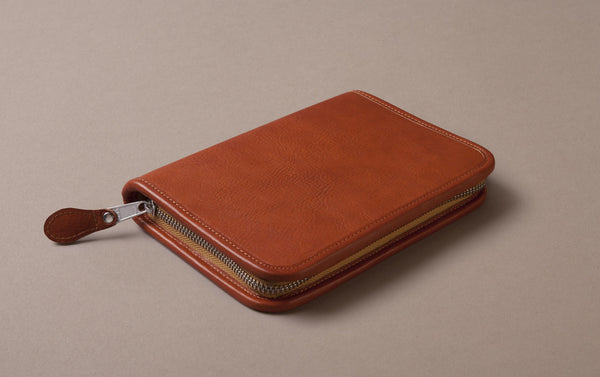 Tan Large Leather Pencil Case