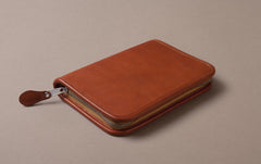 Tan Extra Large Leather Pencil Case