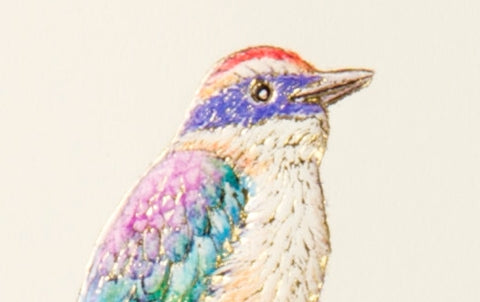 Kingfisher bird Embossed Greeting Card