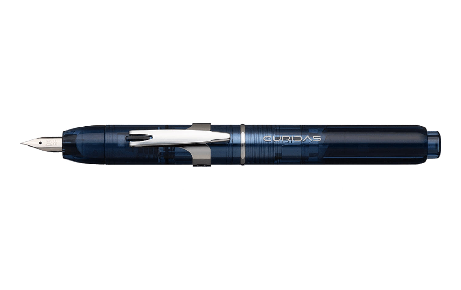 Abyss Blue Platinum Curidas retractable Fountain Pen