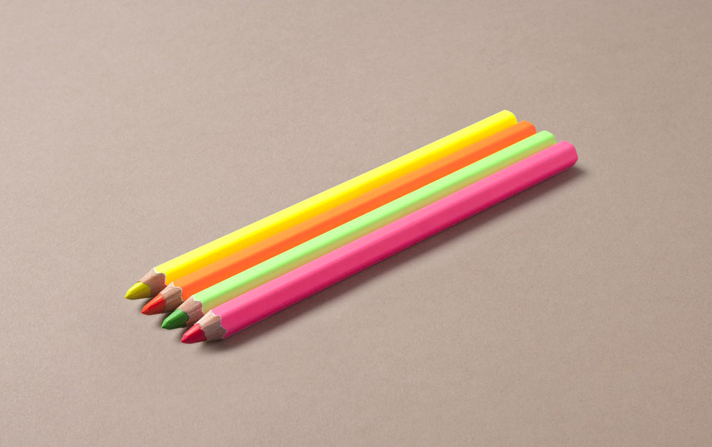 Highlighter Neon Pencil Set