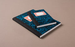 Miquelrius Black and Blue Marbled Composition Notebook