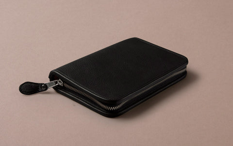 Black Large Leather Pencil Case