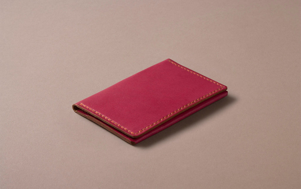 Red Choosing Keeping Slim Wallet