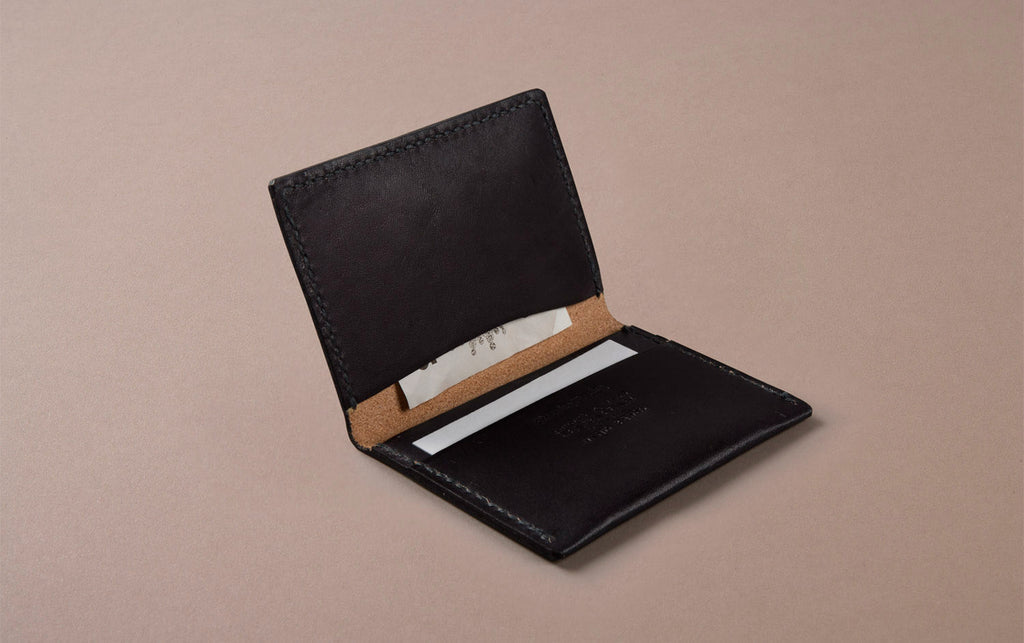 Black Choosing Keeping Slim Wallet